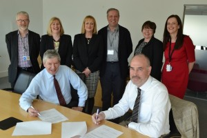 The CLD Standards Council Team and Education Scotland Senior Officers at the signing of the Framework Agreement