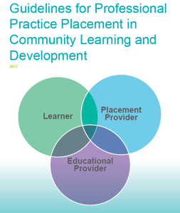 Cover of the Guidelines for Professional Practice Placement publication